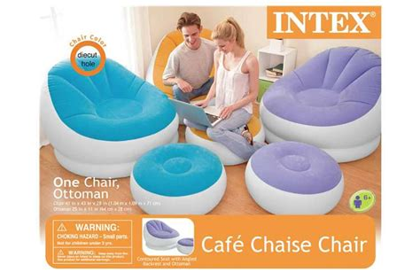 intex chair and ottoman intex inflatable cafe chaise lounge chair and ottoman