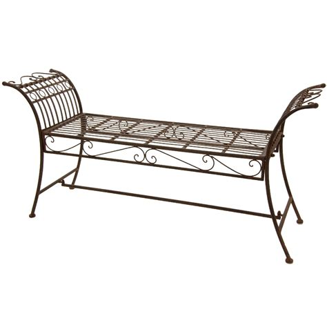 wrought iron backless bench backless outdoor bench kmart com