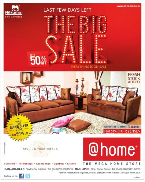 the big sale upto 50 on furniture at home hyderabad