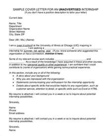 sle cover letter for an unadvertised cover letters for internship 7 free word pdf documents