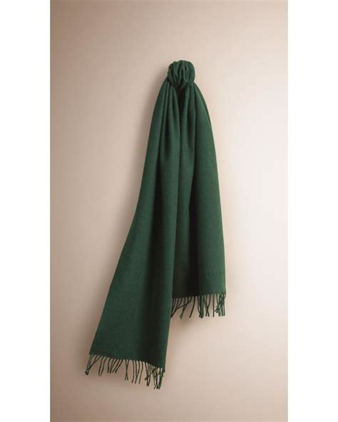 Clasic 05 D Green 10 5 burberry the classic scarf forest green in