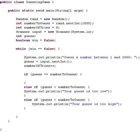 coding loop solved quot write a program to simulate a guess the
