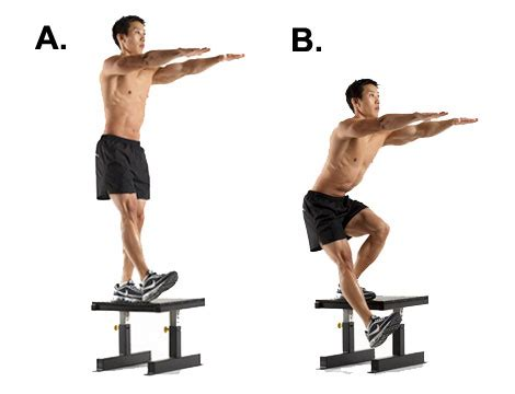 1 leg bench squat 10 workouts for men ten on ten by solomon lato
