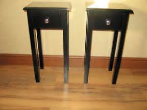 12 Inch Bedside Table 2 Black Telephone L Bedside Side Plant Tables 12inch X