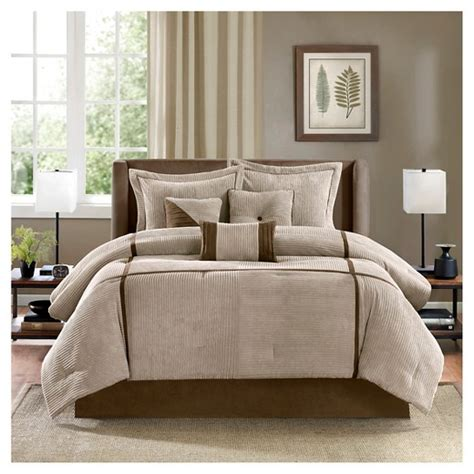 caldwell corduroy comforter set tan target