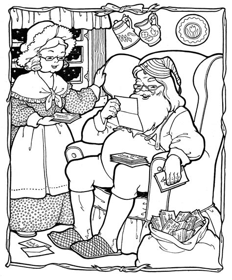 vintage santa coloring page christmas santa the mrs on pinterest xmas