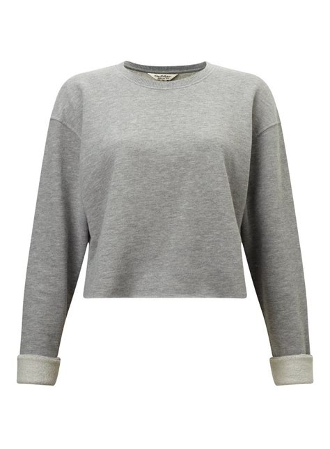 Cropped Sweatshirt grey cropped sweatshirt miss selfridge
