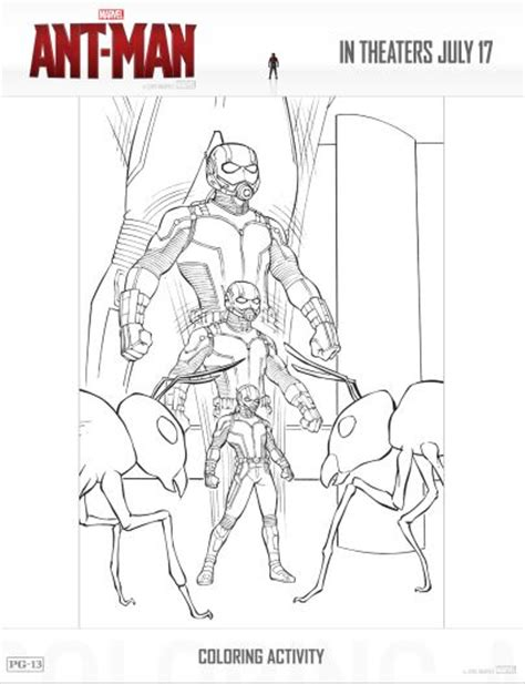 free ant man coloring pages