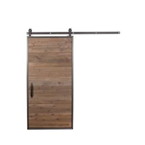 Rustica Hardware 42 In X 84 In Mountain Modern Wood Barn Barn Door Home Depot