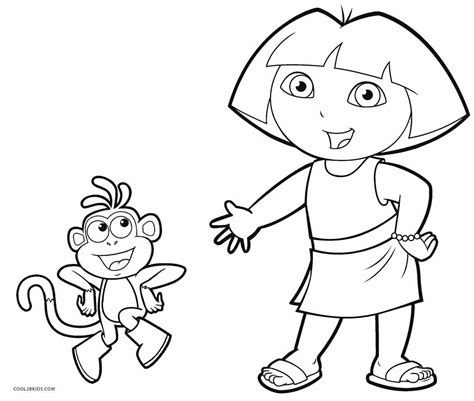 coloring pages dora boots free printable dora coloring pages for kids cool2bkids