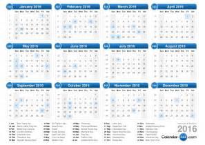 Kalender 2018 Schulferien Steiermark 2016 Calendar Template Vector Weekly Calendar 2016 For