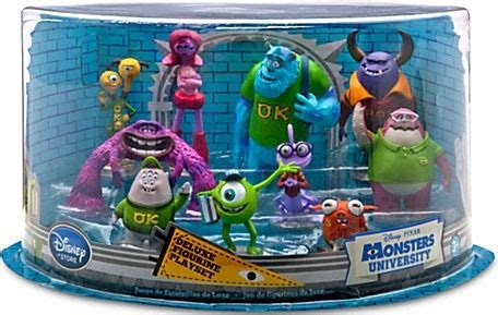the disney pixar monsters universitytoy story zone also acts as a disney pixar monsters university deluxe figurine set