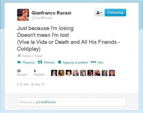 traduzione testo viva la vida foto il tweet rock cardinale ravasi sul suo profilo