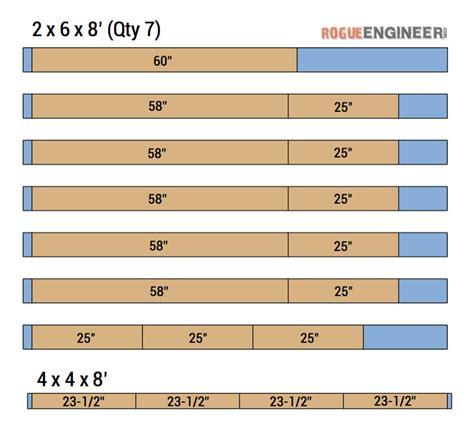 rogue engineer free plans outdoor wood plank loveseat