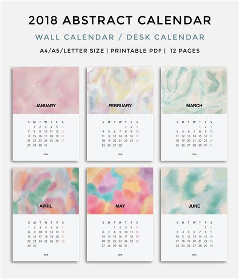 printable calendar 2018 etsy best 25 calendar 2018 ideas on pinterest calendar free