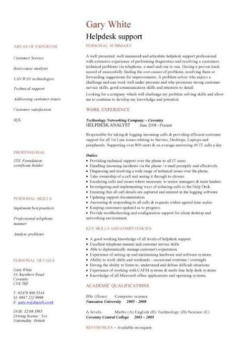 Purchasing Resume Examples by It Cv Template Cv Library Technology Job Description
