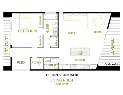 minimalist floor plans the minimalist small modern house plan 61custom