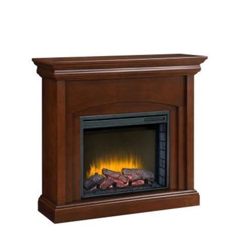 pleasant hearth lowell 42 in electric fireplace in cherry