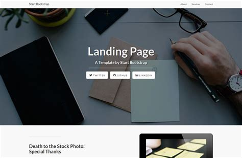 free responsive landing page template 30 one page website templates built with html5 css3