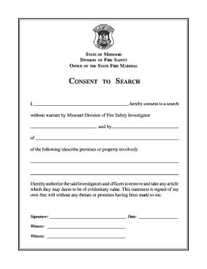 Consent Search Consent To Search Form Fill Printable Fillable Blank Pdffiller