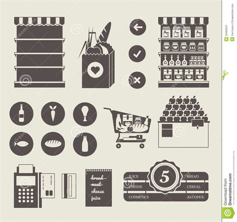 layout vector format supermarket icons royalty free stock photography image