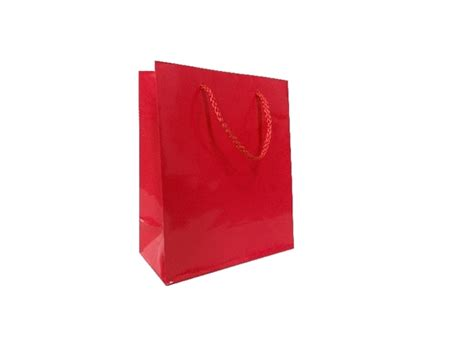 Does Ebay Accept Visa Gift Cards - 50 x red glossy laminated paper gift carry shopping bags