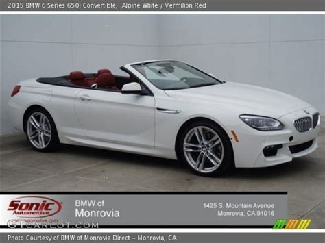White Bmw With Interior For Sale by Alpine White 2015 Bmw 6 Series 650i Convertible