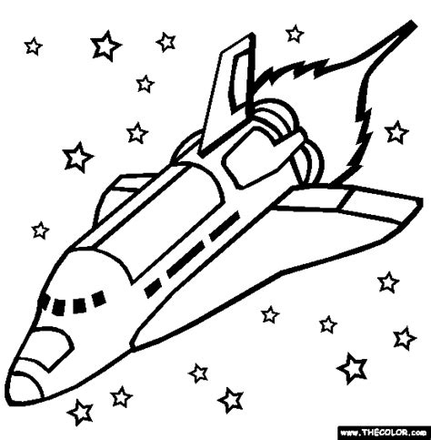 Spaceship Coloring Pages Space Shuttle Coloring Pages
