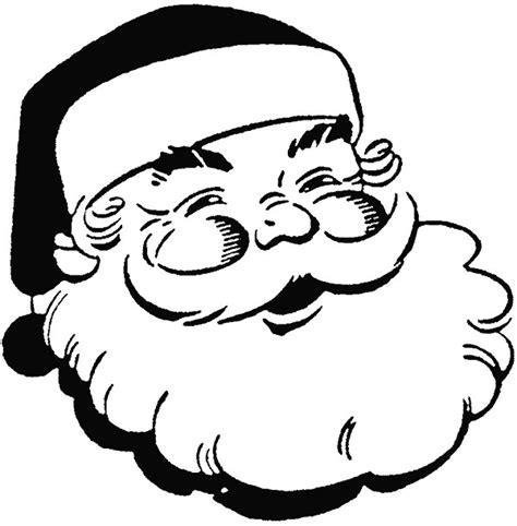 coloring page santa face santa face picture cliparts co