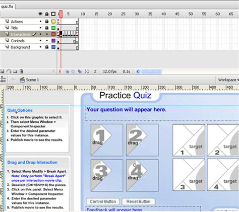 flash quiz template make adobe flash a flash quiz maker using quiz templates