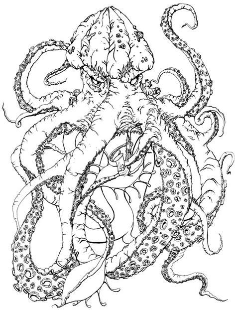 saxophone kraken lineart by mooing duckerberry on deviantart