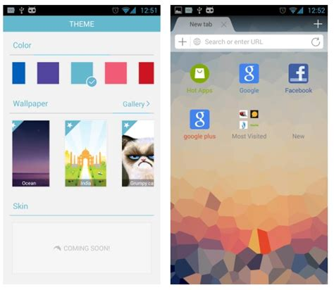 themes for android browser dolphin browser for android adds themes search engine
