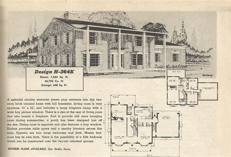 1950s house floor plans vintage house plans 364 antique alter ego