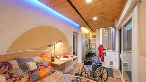 handicap tiny houses wheelchair friendly tiny house offers independence on wheels