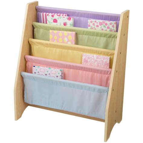 kidkraft 174 pastel sling bookshelf 184774 kid s furniture