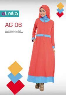 Alnita Gamis Ag 43 jual baju gamis alnita fashion merah cabe