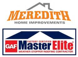 meredith home improvements gets gaf master elite roofing