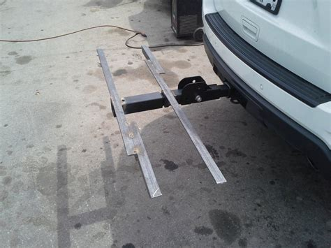 bike trailer hitch diy hitch tray mounts mtbr