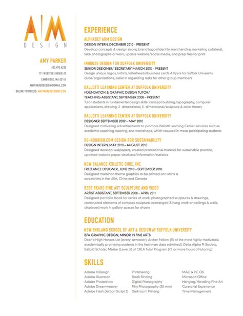 Resume Design Inspiration by Creative Resume With A Splash Of Color Resume Design