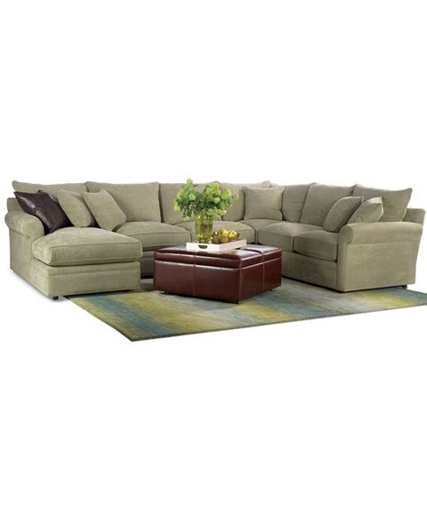 doss couch doss 4 piece fabric microfiber sectional 144 quot w x 104 quot d x