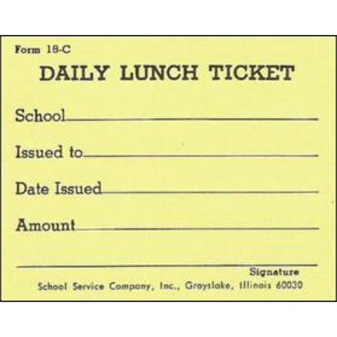 lunch punch card template 18c daily lunch ticket punch tickets