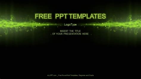 Green Equalizer Abstract PowerPoint Templates