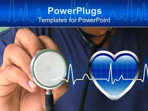 templates powerpoint nurse powerpoint template a male nurse ready to check heartbeat