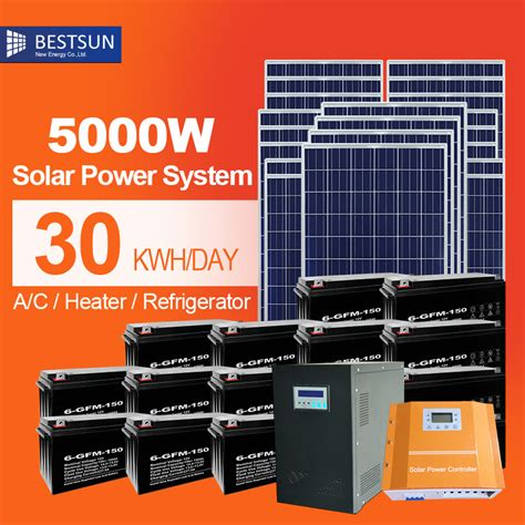 buy solar panel system for home aliexpress buy 5000w solar energy system pv panel price 5000w grid home solar system