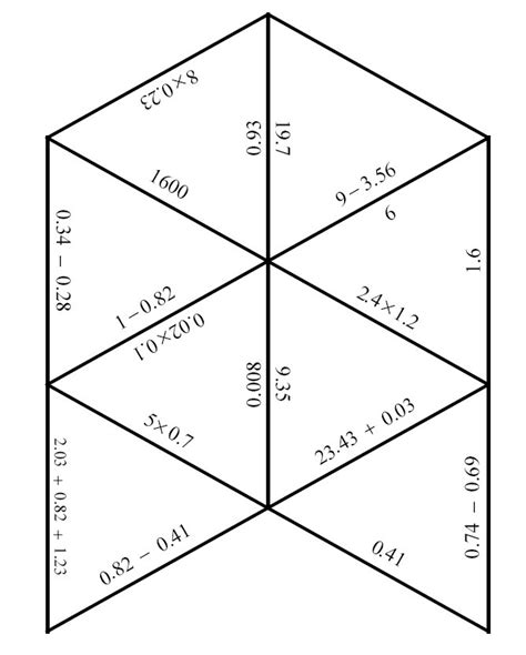 printable maths jigsaw puzzles maths triangle puzzles worksheet search results