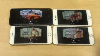 gta san andreas samsung galaxy s8 vs iphone 7 vs iphone 6s vs iphone 6 speed test