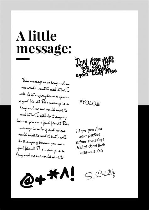 message to a chapter 2 tips for writing a great yearbook message