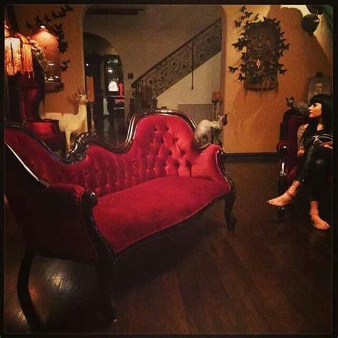 kat von d house inside kat von d s house love the victorian couch and