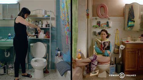 are we there yet bathroom scene broad city s meticulously chaotic world explained in one