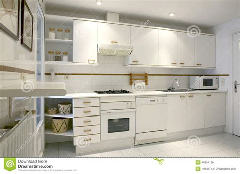 cuisine d appartement int 233 rieur de cuisine d appartement dans le ton blanc photo